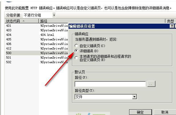 in2008 ASP显示500内部错误不能显示详细错误的解决方法图片